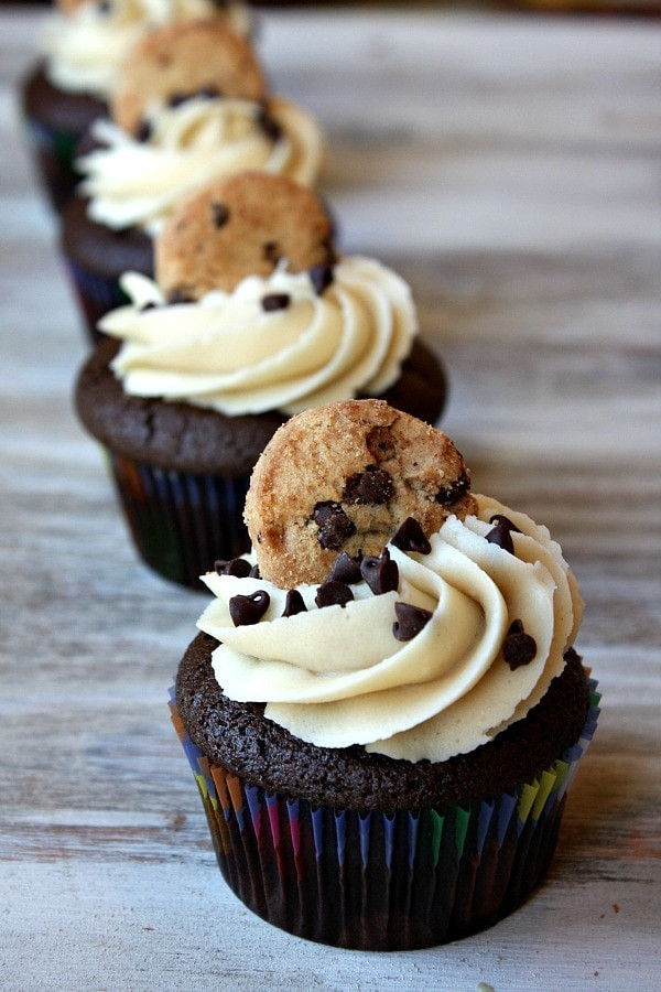 Chocolate Chip Cupcakes  Chocolate Chip Cookie Dough Cupcakes