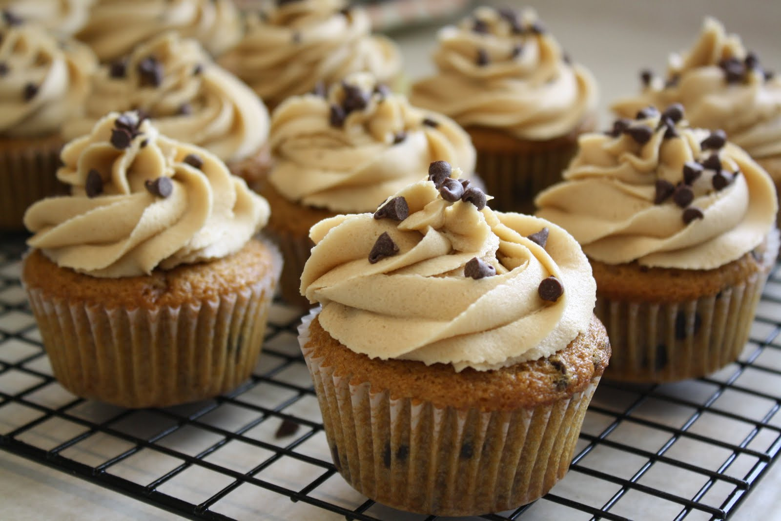 Chocolate Chip Cupcakes  Cupcakes & bat Boots Chocolate Chip Cookie Cupcakes