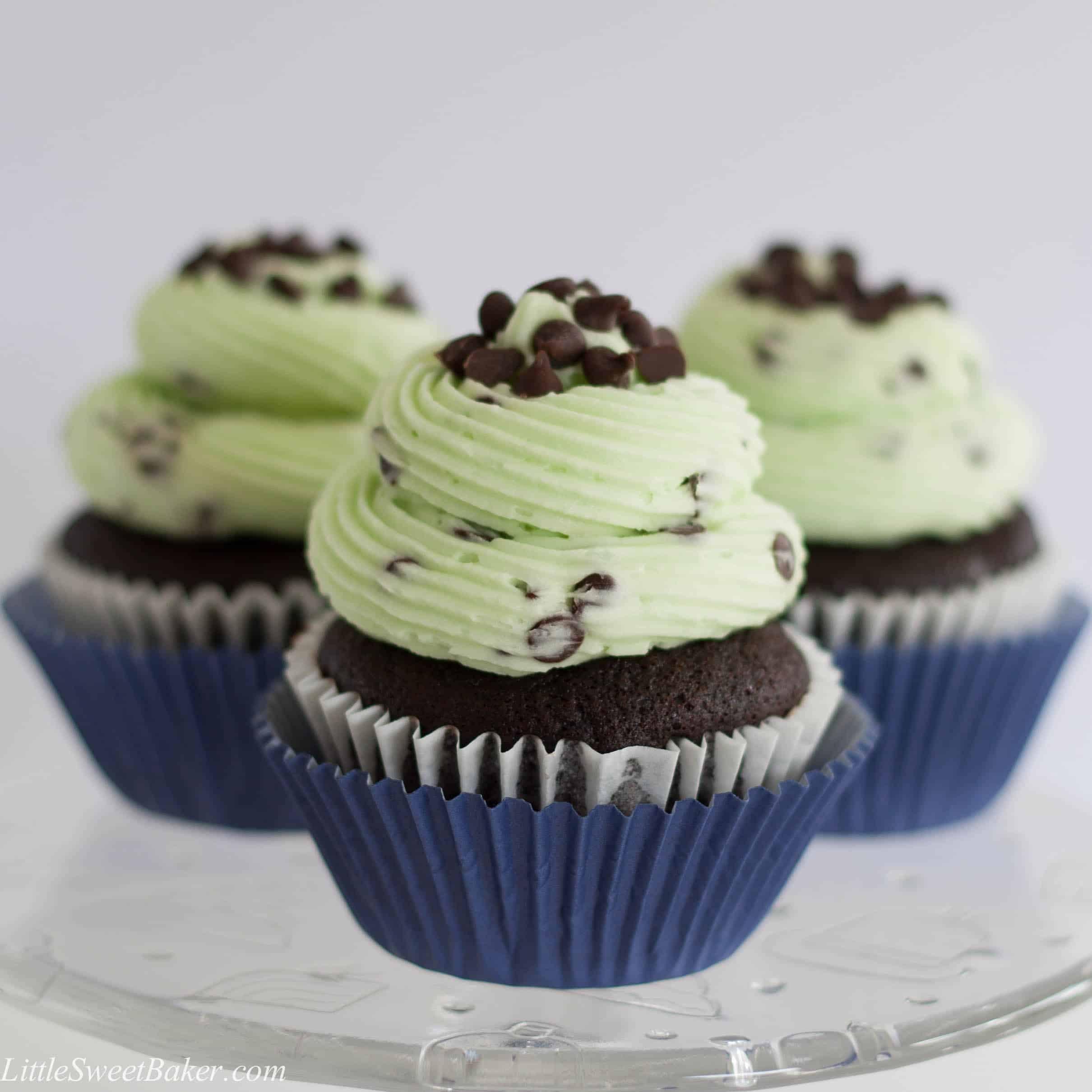 Chocolate Chip Cupcakes  Chocolate Mint Chocolate Chip Cupcakes