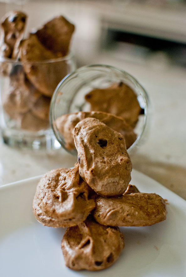 Chocolate Chip Meringue Cookies  Recipe Chocolate Chip Meringue Cookies