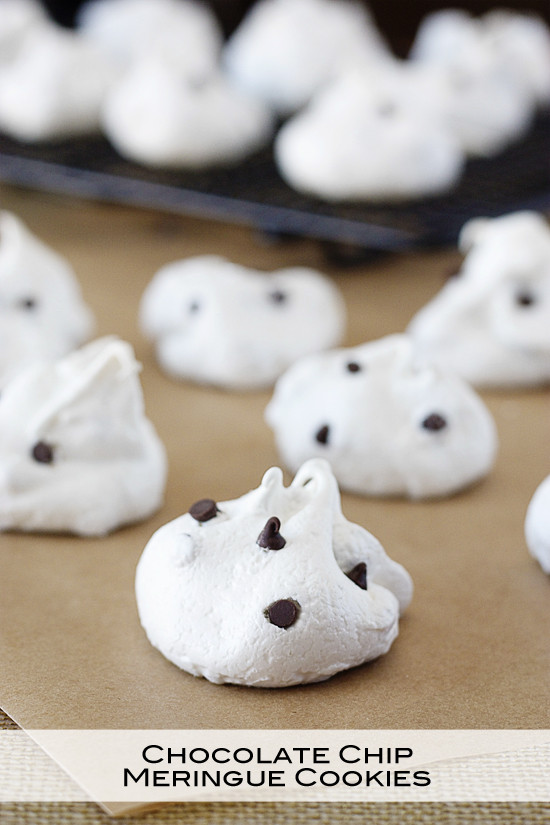 Chocolate Chip Meringue Cookies  15 Valentines Day Desserts Worth Breaking Your New Year s