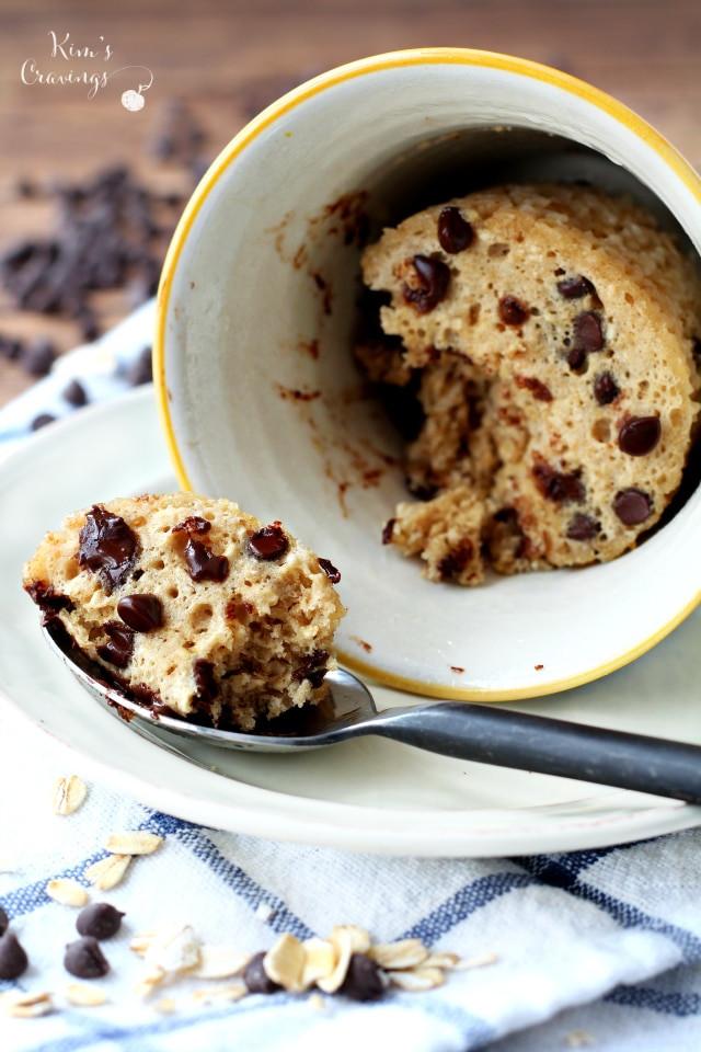Chocolate Chip Mug Cake  Chocolate Chip Cookie Microwave Mug Cake Kim s Cravings
