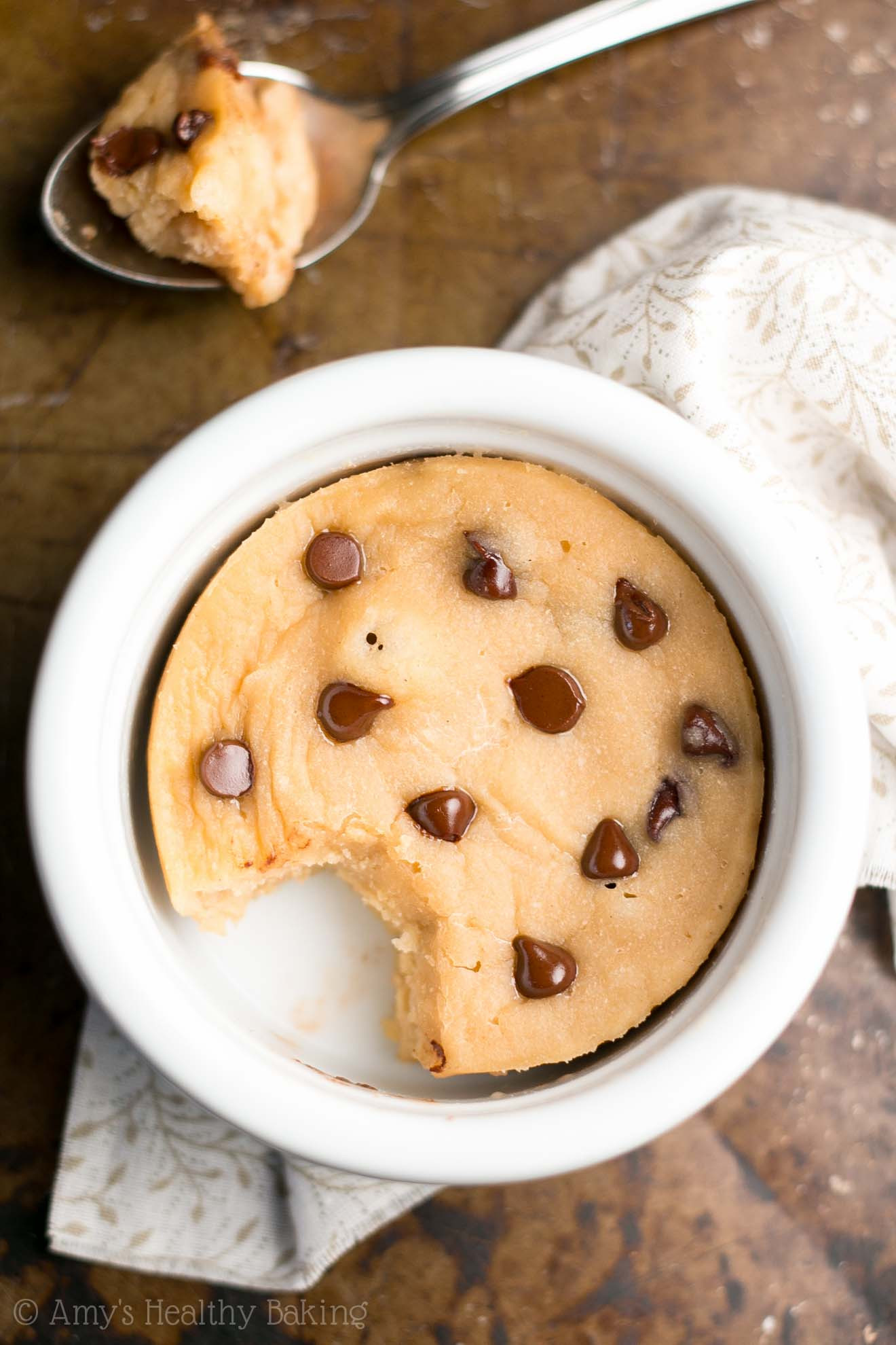 Chocolate Chip Mug Cake  Skinny Single Serving Chocolate Chip Mug Cake Recipe