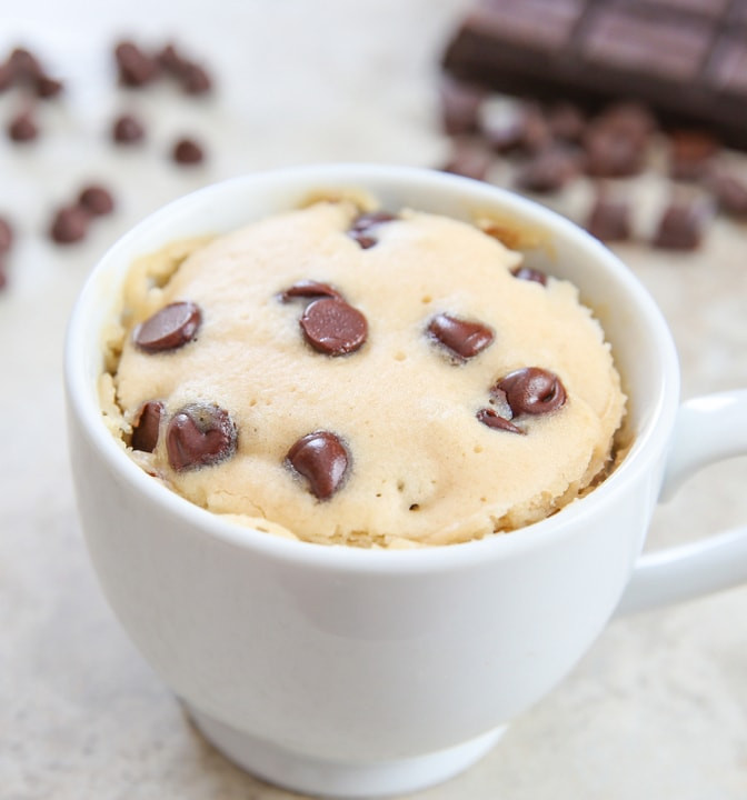 Chocolate Chip Mug Cake  Chocolate Chip Mug Cake Kirbie s Cravings