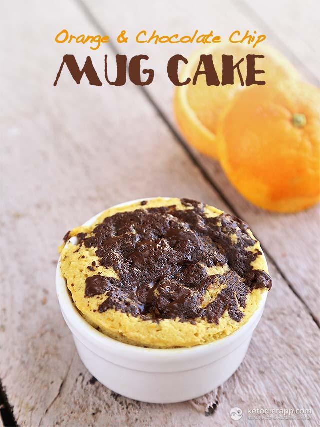 Chocolate Chip Mug Cake  Orange & Chocolate Chip Mug Cake