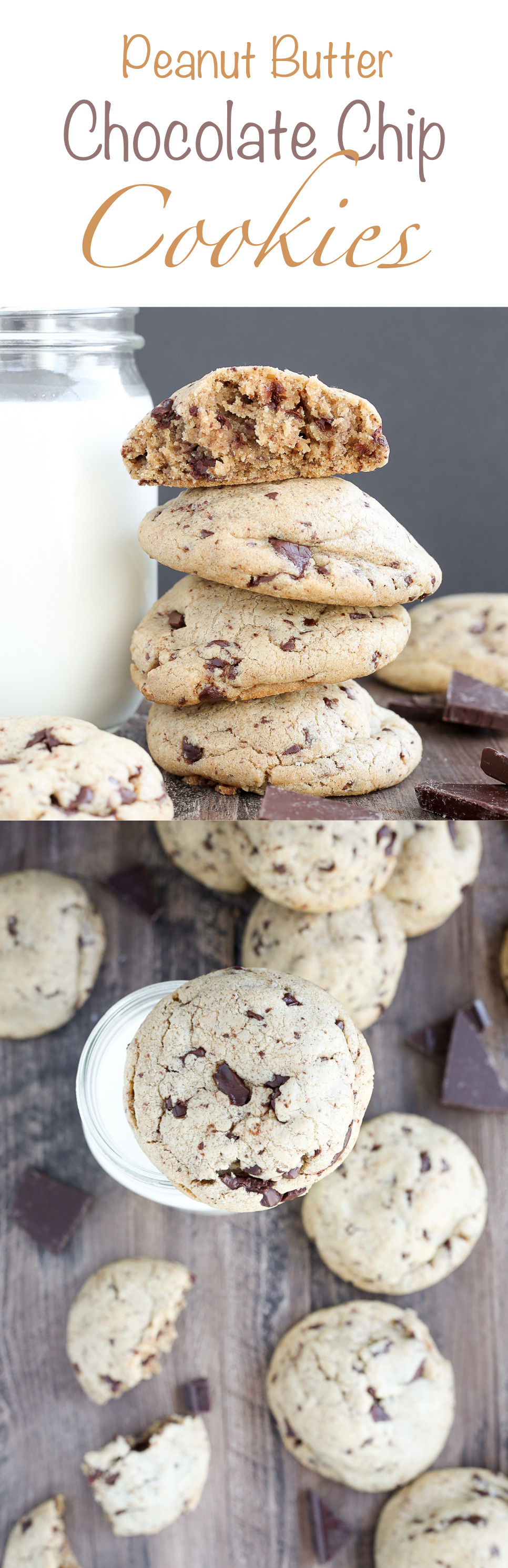 Chocolate Chip Peanut Butter Cookies  Chewy Peanut Butter Chocolate Chip Cookies American