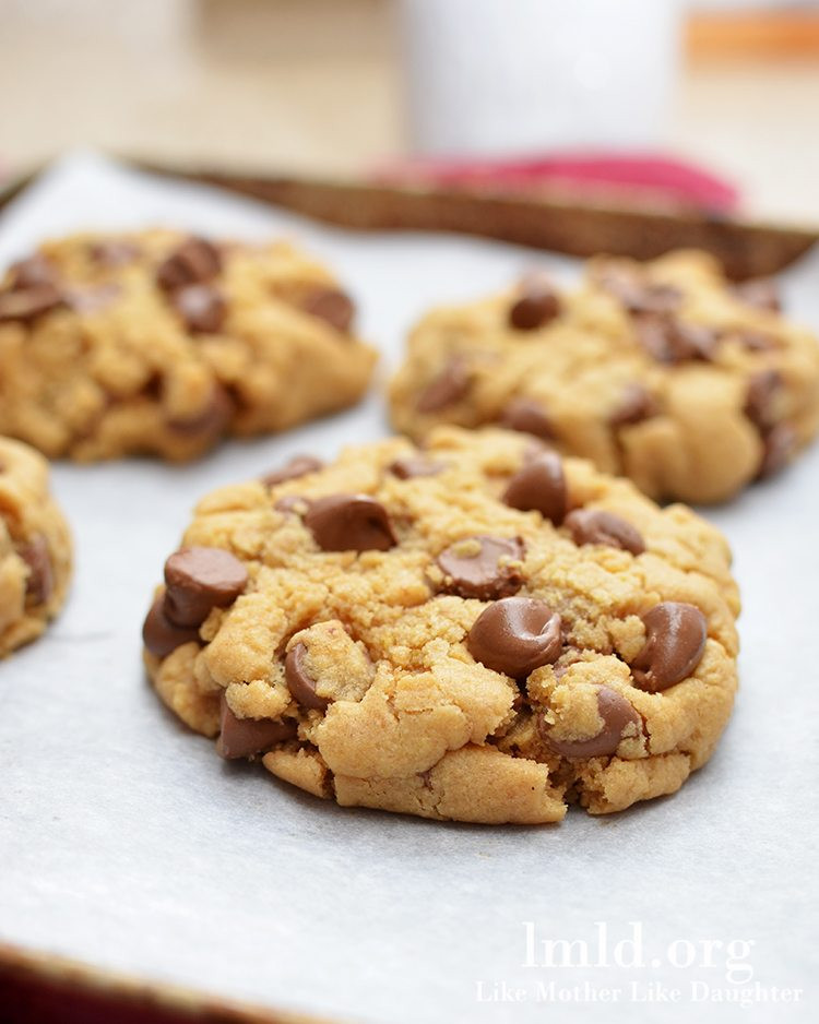 Chocolate Chip Peanut Butter Cookies  peanut butter chip chocolate cookies