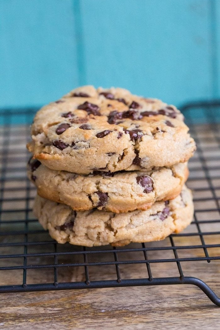 Chocolate Chip Peanut Butter Cookies  Chewy Peanut Butter Chocolate Chip Cookies Recipe — Dishmaps