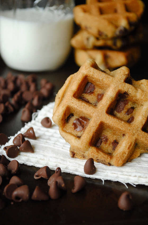 Chocolate Chip Waffles  31 Waffle Iron Hacks You Have to See To Believe