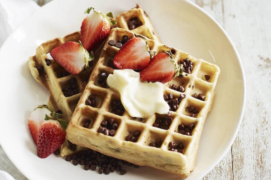 Chocolate Chip Waffles  Chocolate Chip Almond Waffles What s Gaby Cooking