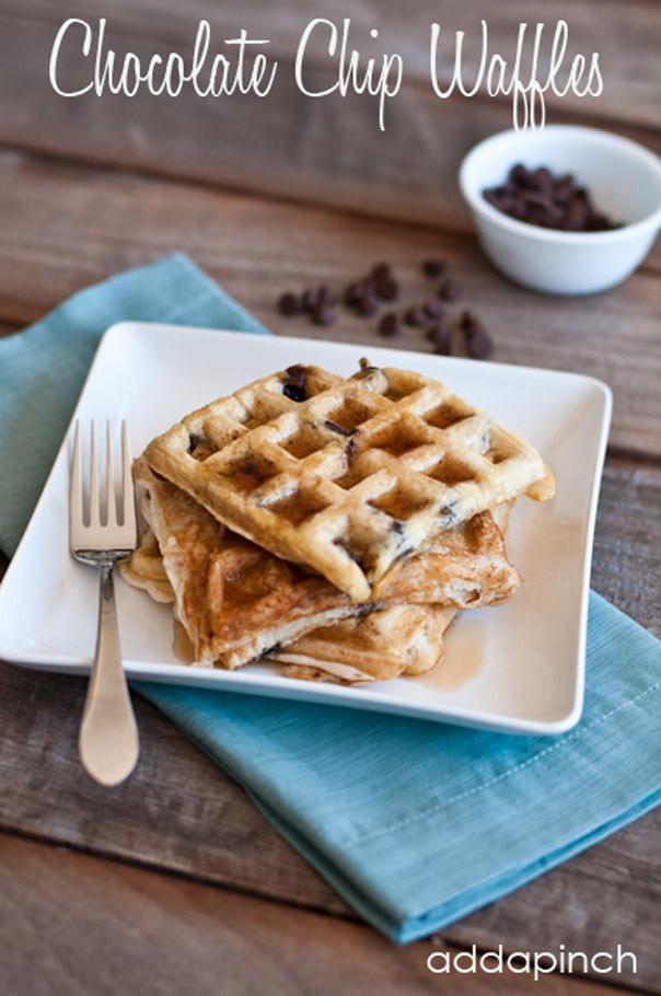 Chocolate Chip Waffles  Chocolate Chip Waffles Recipe Add a Pinch