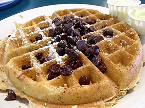 Chocolate Chip Waffles  Waffle Day Eye Feast