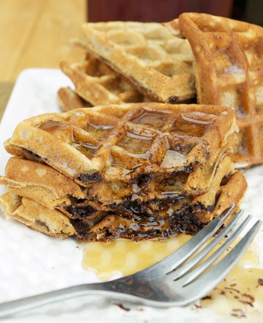 Chocolate Chip Waffles  Best Chocolate Chip Waffles Recipe