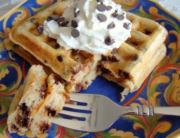 Chocolate Chip Waffles  Chocolate Chip Waffles Recipe Food