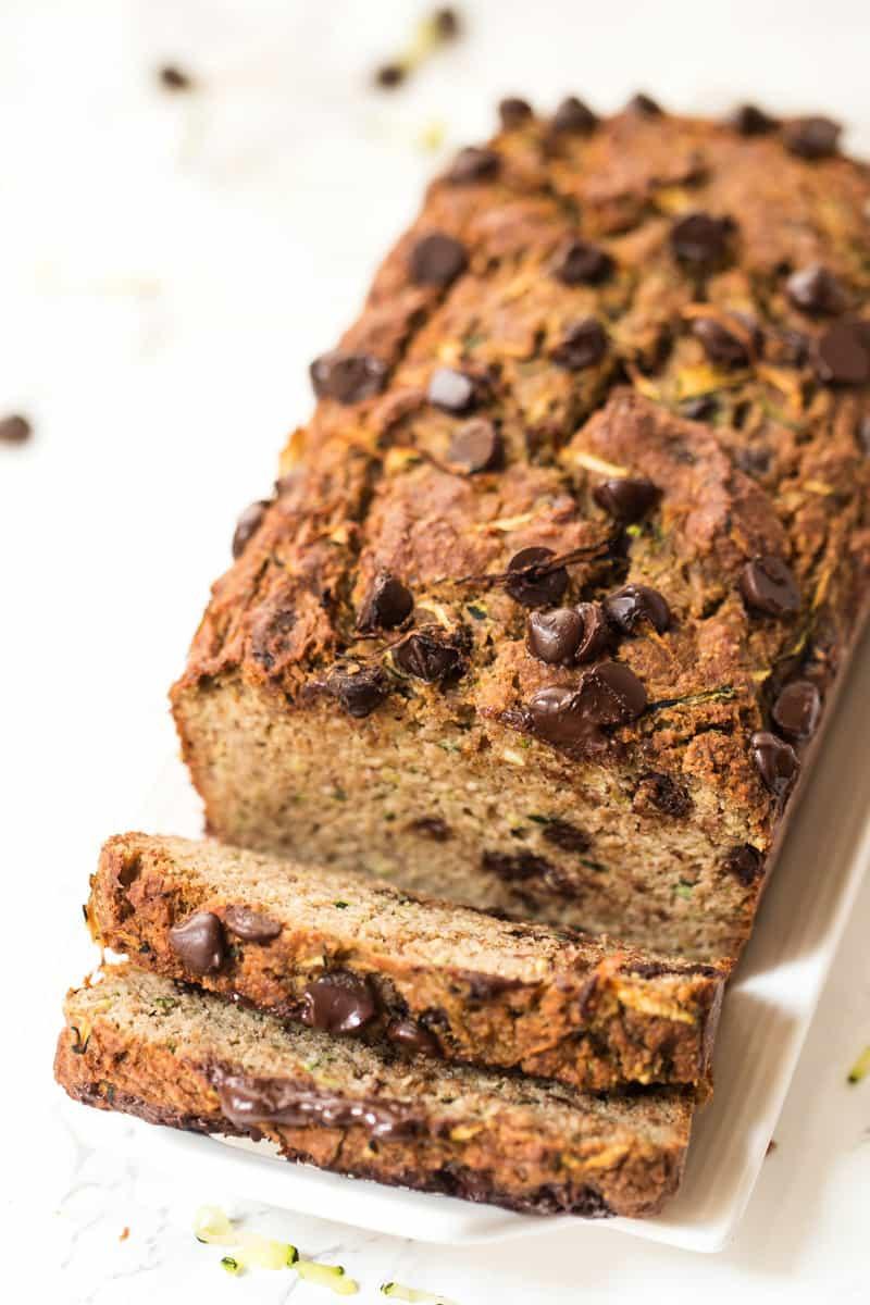 Chocolate Chip Zucchini Bread Recipe  Healthy Chocolate Chip Zucchini Bread Simply Quinoa