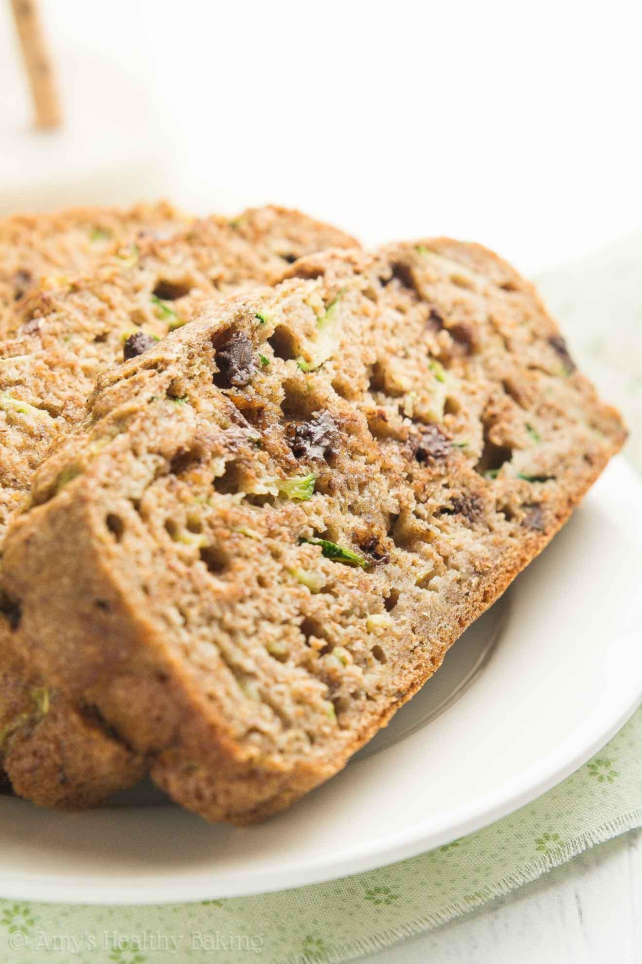 Chocolate Chip Zucchini Bread Recipe  Healthy Chai Spice Chocolate Chip Zucchini Bread