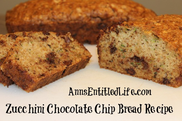Chocolate Chip Zucchini Bread Recipe  Zucchini Chocolate Chip Bread Recipe