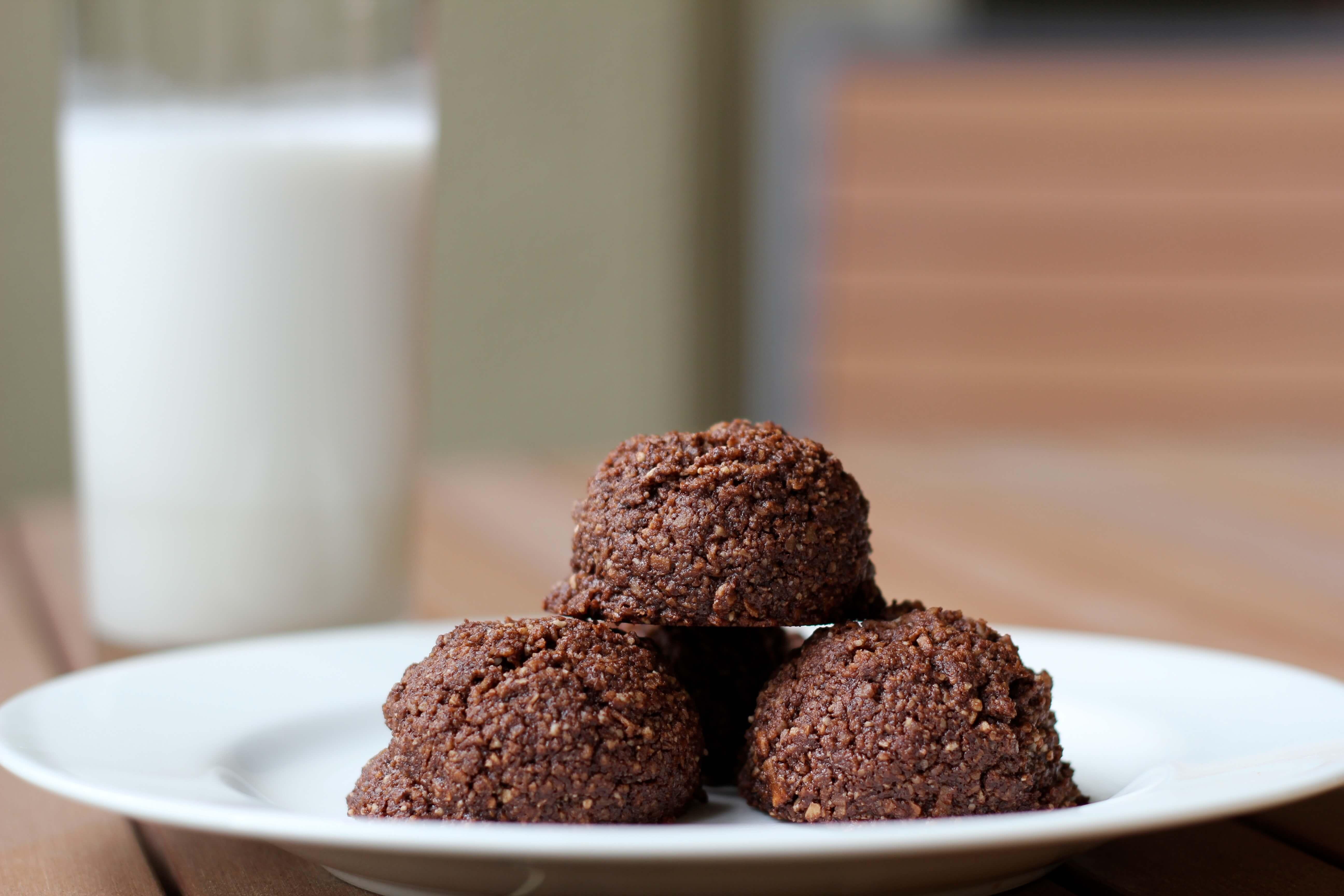 Chocolate Coconut Macaroons  Chocolate Coconut Macaroons gluten free paleo