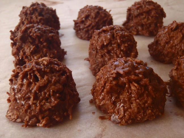 Chocolate Coconut Macaroons  chocolate coconut macaroons recipe