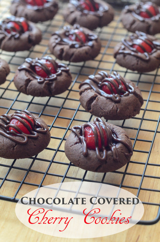 Chocolate Covered Cherry Cookies  Chocolate Covered Cherry Cookies Valerie s Kitchen