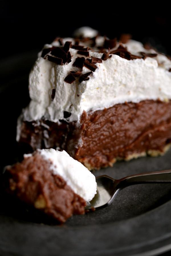 Chocolate Cream Pie With Pudding  Chocolate Pudding Pie Recipe HOMEMADE Rachel Cooks