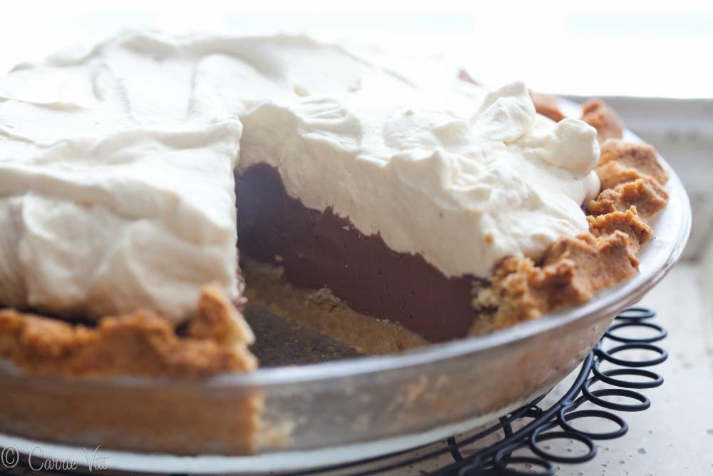 Chocolate Cream Pie With Pudding  Chocolate Pudding Pie Grain Free Paleo