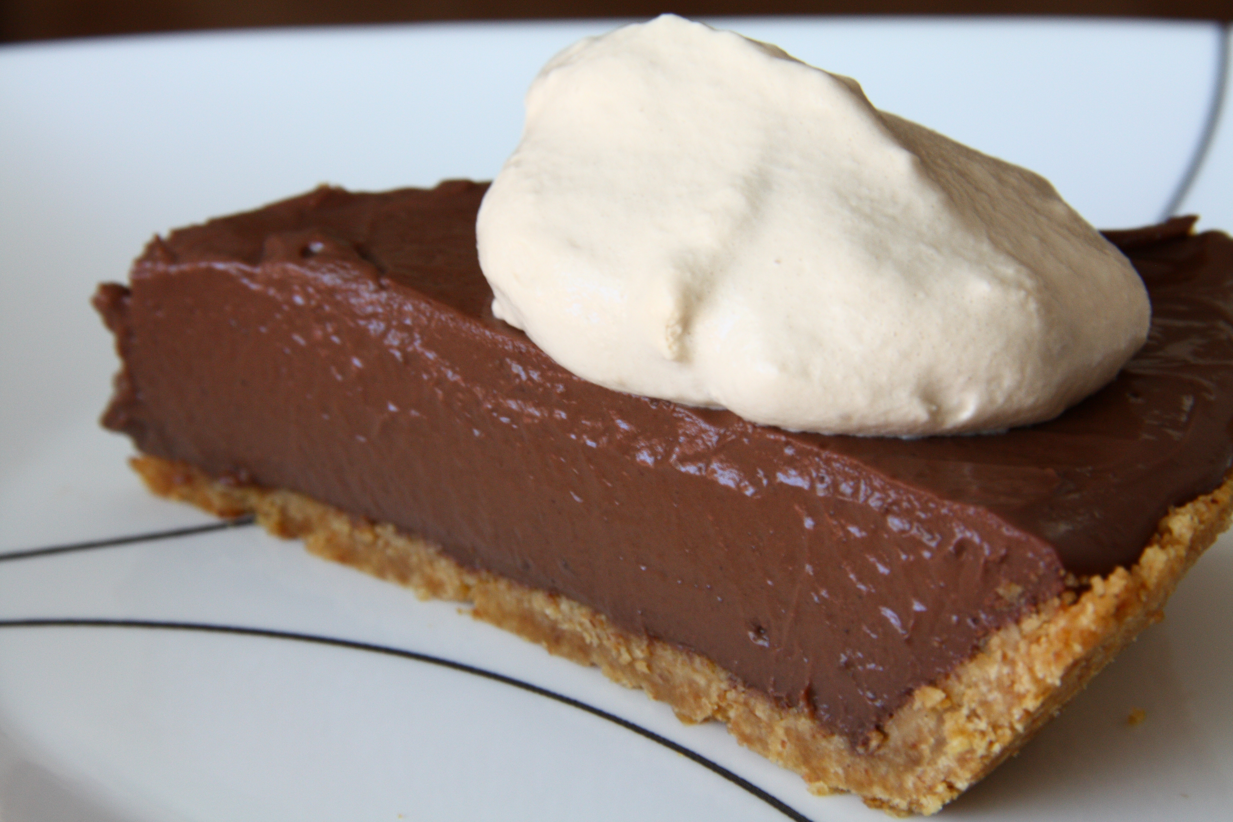 Chocolate Cream Pie With Pudding  National Chocolate Pudding Day