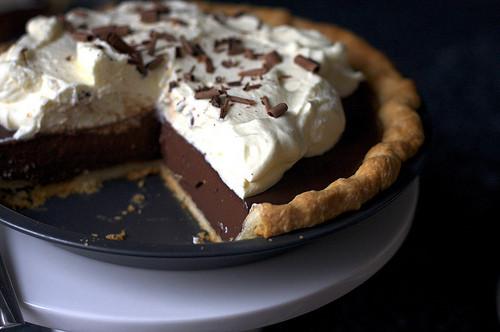 Chocolate Cream Pie With Pudding  DeGomez Diner Chocolate Pudding Pie