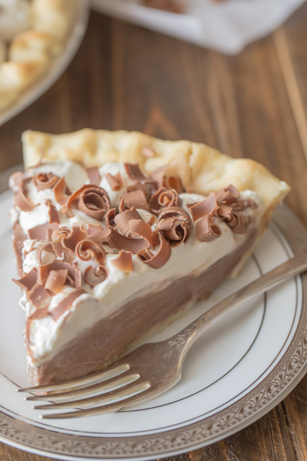 Chocolate Cream Pie With Pudding  Homemade Chocolate Pudding Pie Lovely Little Kitchen