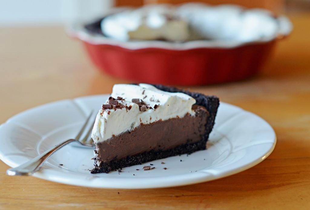Chocolate Cream Pie With Pudding  Chocolate Cream Pie ce Upon a Chef
