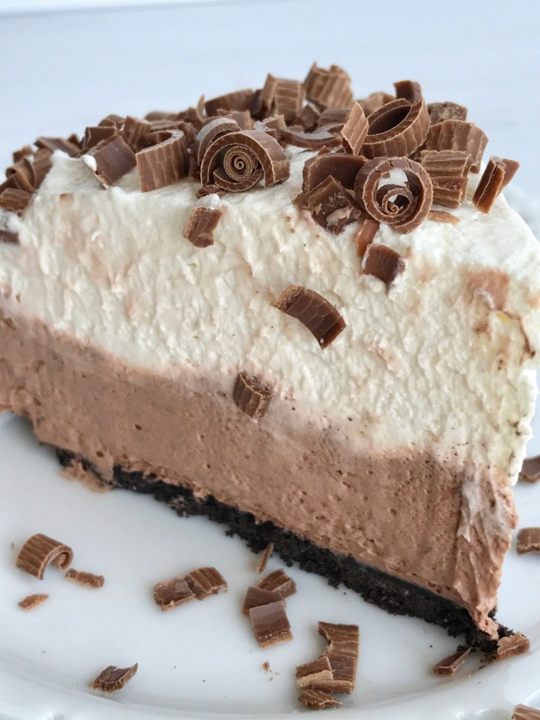 Chocolate Cream Pie With Pudding  no bake double chocolate cream pie To her as Family