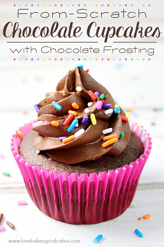 Chocolate Cupcakes From Scratch  From Scratch Chocolate Cupcakes with Chocolate Frosting
