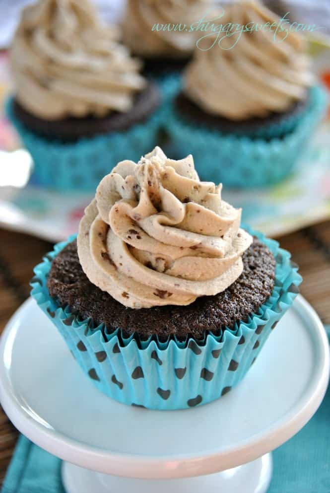 Chocolate Cupcakes From Scratch  Mint Chocolate Chip Cupcakes Shugary Sweets