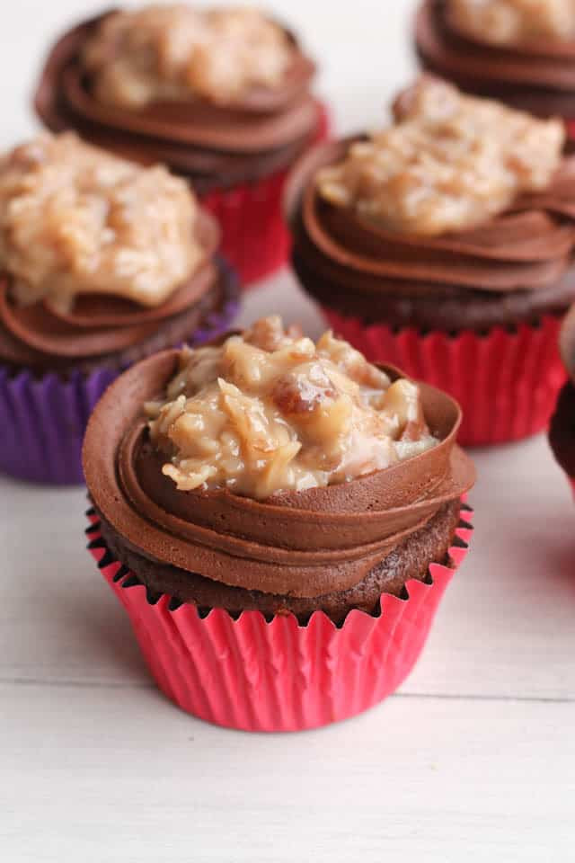 Chocolate Cupcakes From Scratch  German Chocolate Cupcakes