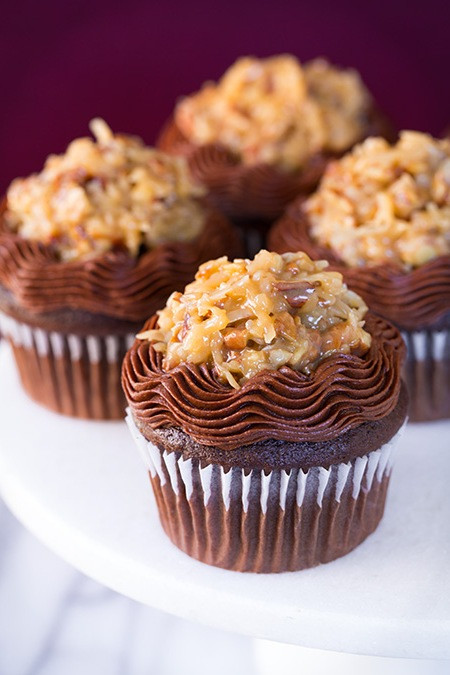 Chocolate Cupcakes From Scratch  German chocolate cupcakes recipe from scratch