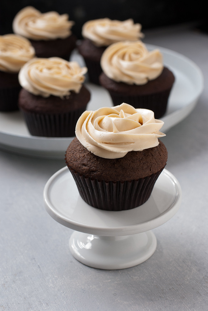 Chocolate Cupcakes Recipe  Dark Chocolate Cupcakes with Salted Caramel Buttercream