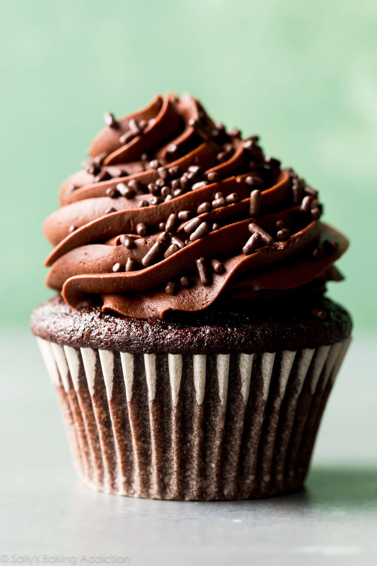 Chocolate Cupcakes Recipe  Classic Chocolate Cupcakes with Vanilla Frosting Sallys