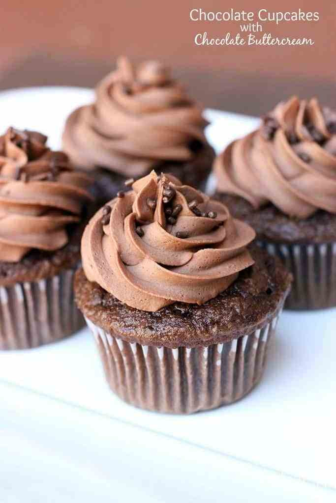 Chocolate Cupcakes Recipe  Chocolate Cupcakes with Chocolate Buttercream Frosting