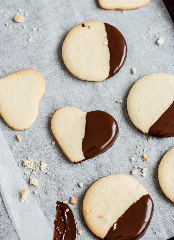 Chocolate Dip Shortbread Cookies  Chocolate Dipped Shortbread Cookies Pretty Simple Sweet