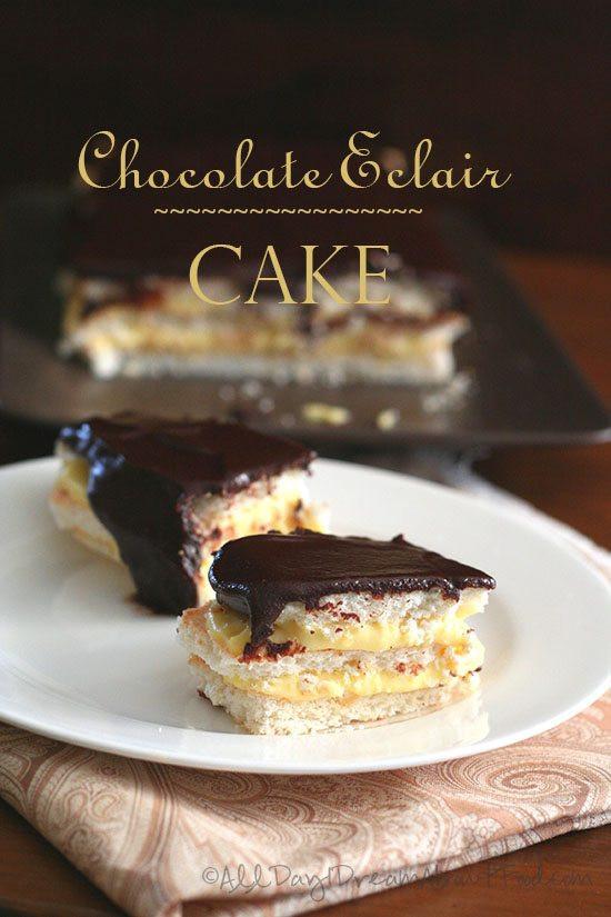 Chocolate Eclair Cake Recipe  Low Carb Chocolate Eclair Cake Recipe