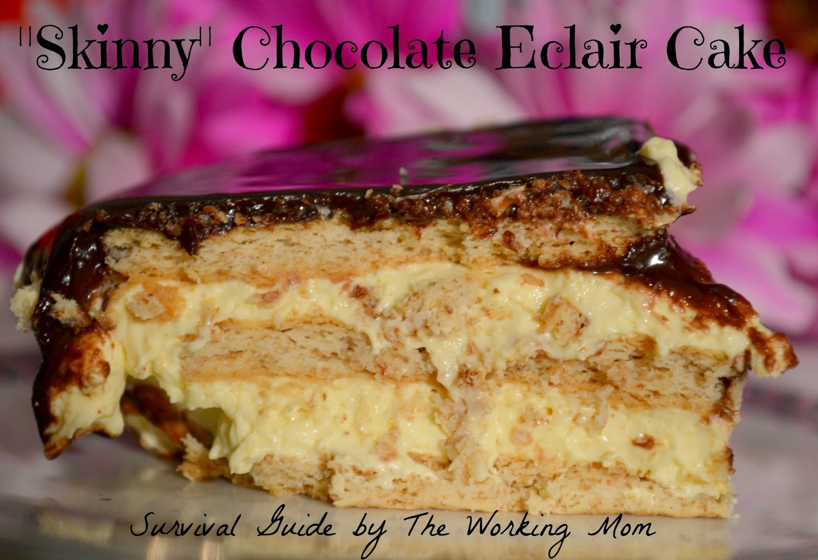 Chocolate Eclair Cake Recipe  Skinny Chocolate Eclair Cake Recipe Guide For Moms