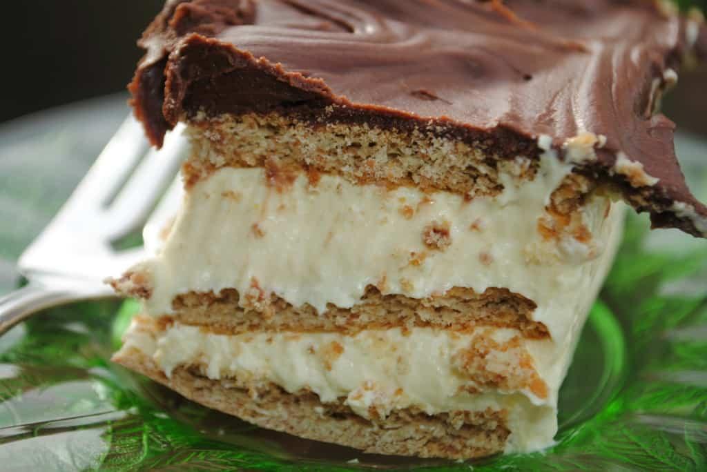 Chocolate Eclair Cake Recipe  No Bake Strawberry Eclair Cake Shugary Sweets