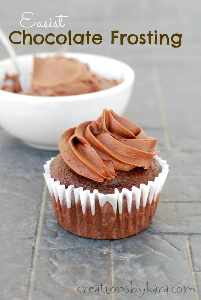 Chocolate Frosting Recipes  Easiest chocolate frosting recipe