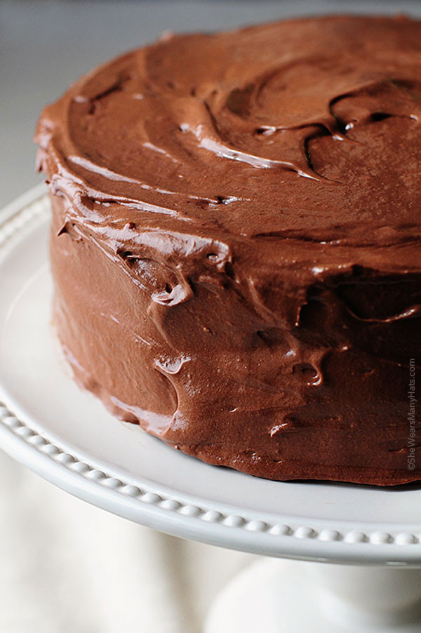 Chocolate Frosting Recipes  Yellow Butter Cake with Malted Chocolate Buttercream Frosting