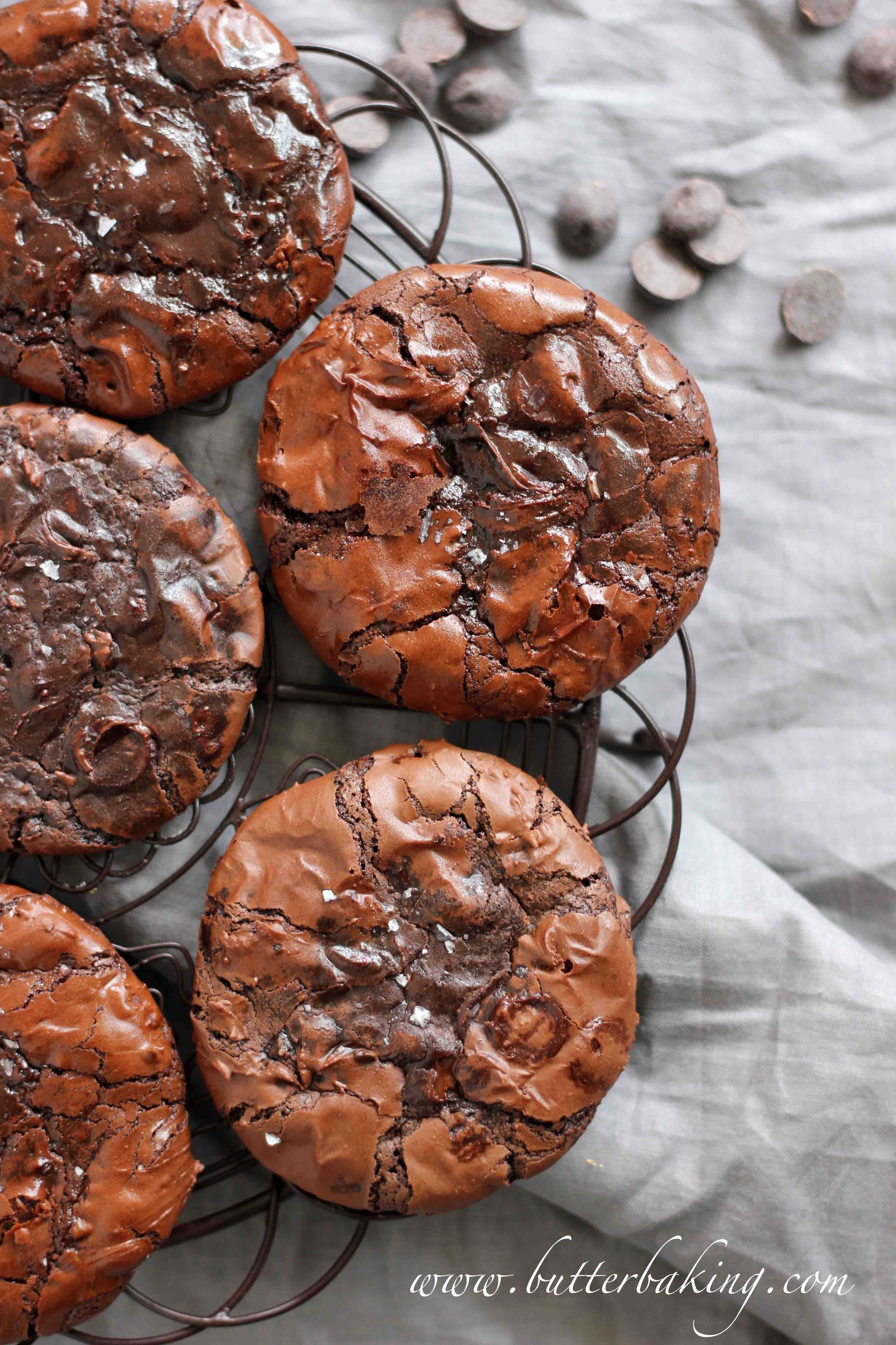 Chocolate Fudge Cookies  Flourless Double Chocolate Fudge Cookies