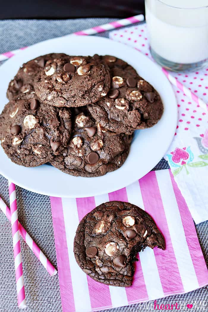 Chocolate Fudge Cookies  Triple Chocolate Fudge Cookies
