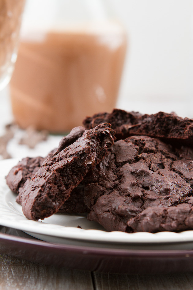 Chocolate Fudge Cookies  vegan chocolate fudge cookies