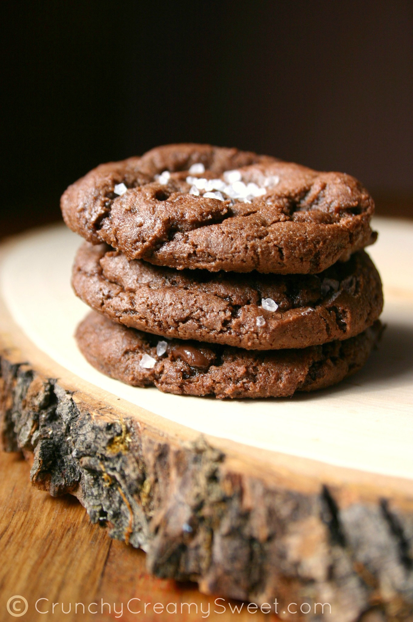 Chocolate Fudge Cookies  Chocolate Fudge Cookies with Sea Salt GIVEAWAY