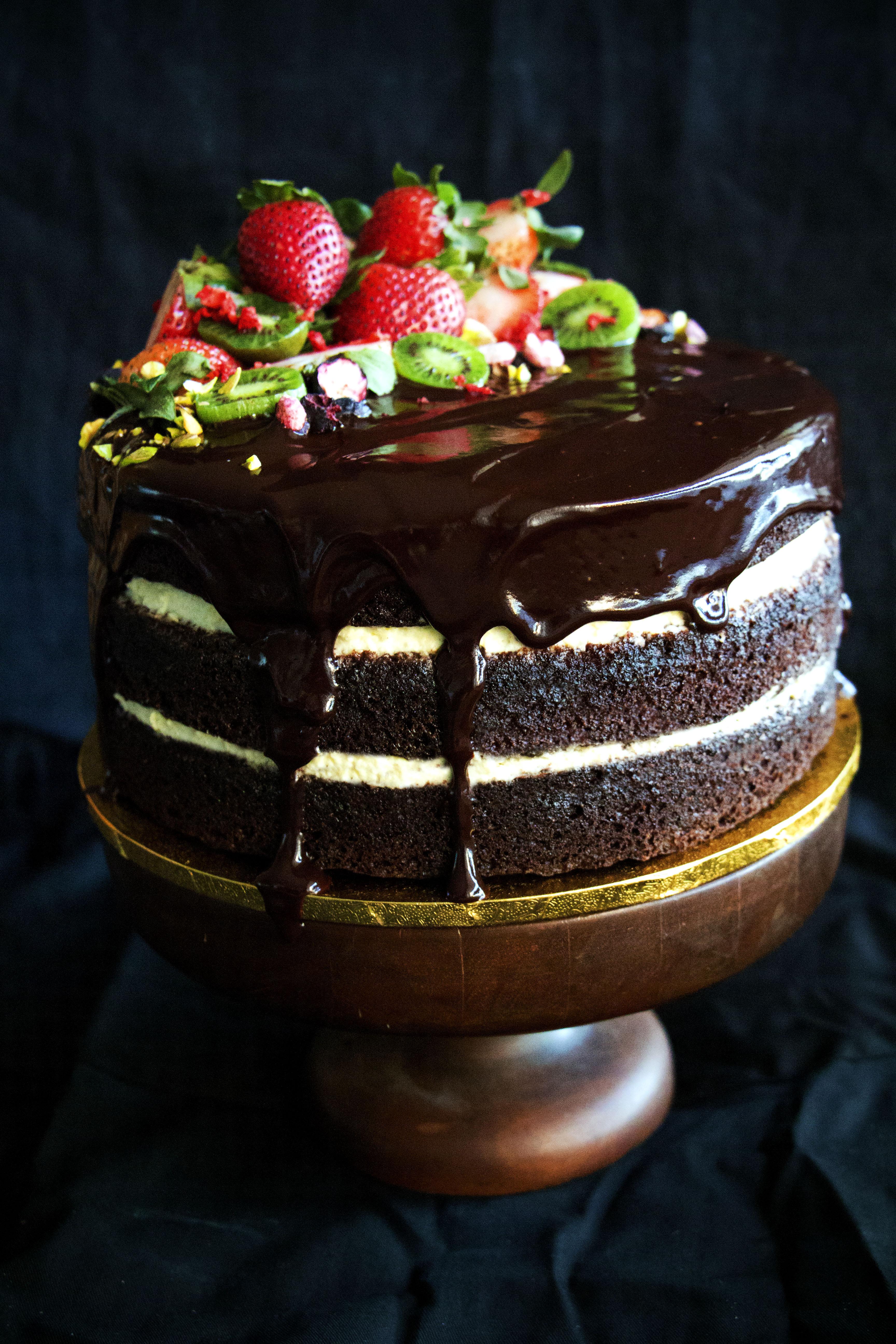 Chocolate Ganache Cake  Chocolate Beetroot Cake with Whipped Cream and Chocolate