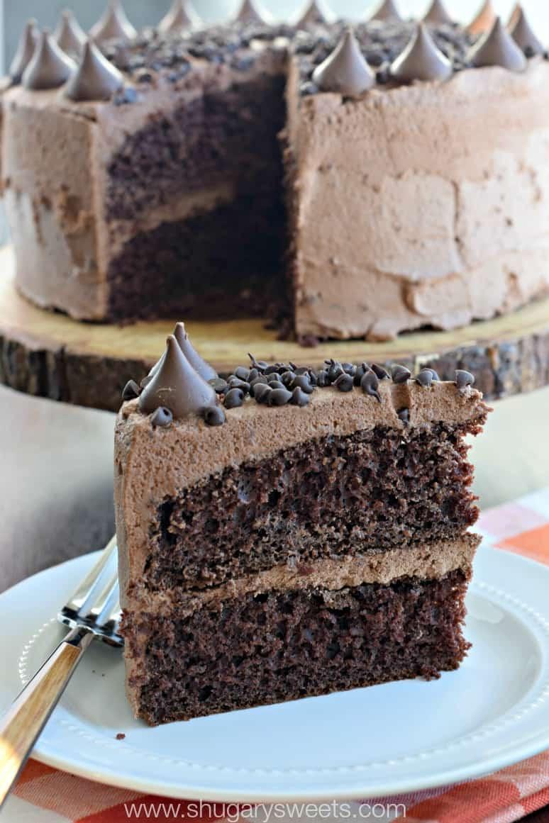 Chocolate Ganache Cake  Chocolate Ganache Frosting Shugary Sweets